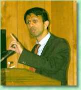 Louisiana Governor Bobby Jindal spoke on many different issues in his address to the audience at the 2008 Claiborne Chamber of Commerce (Photo by K.H. Hightower).